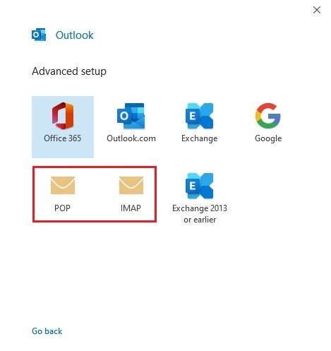 Configuring Microsoft Office Outlook 2019